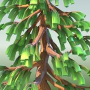 低ポリ漫画針葉樹01 3d model