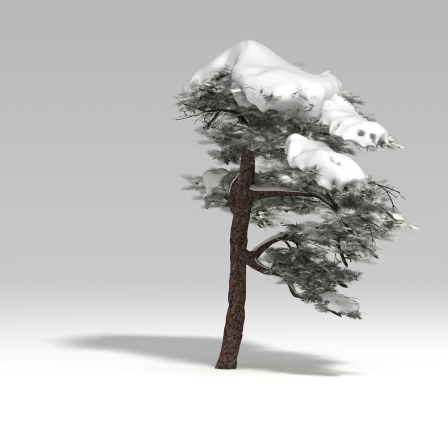 snowtree V1 royalty-free 3d model - Preview no. 2