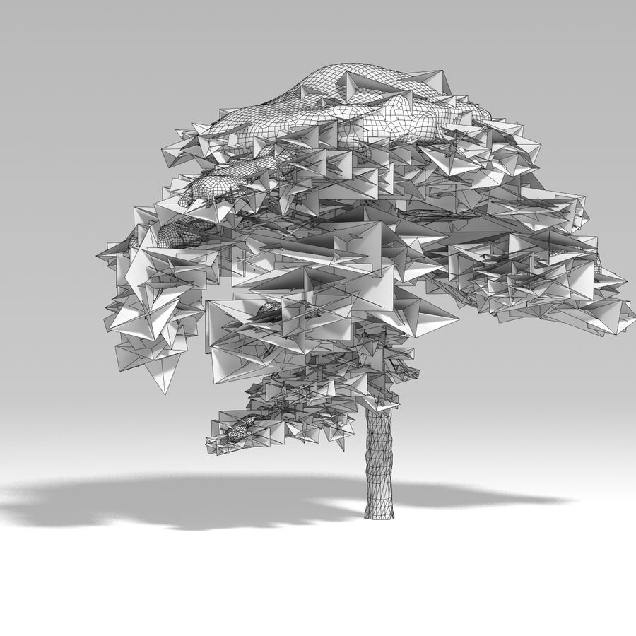 snowtree V1 royalty-free 3d model - Preview no. 8
