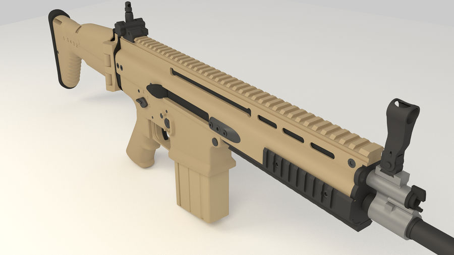 FN SCAR-H royalty-free 3d model - Preview no. 10