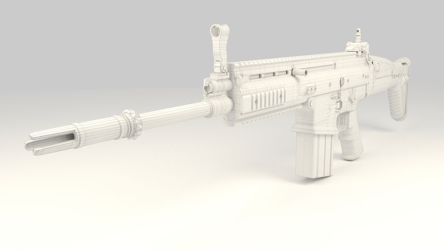 FN SCAR-H royalty-free 3d model - Preview no. 16