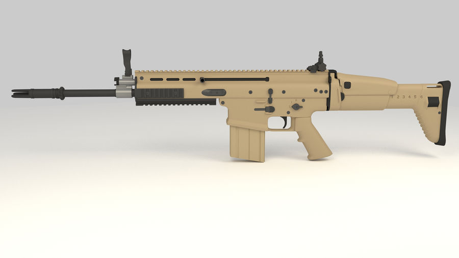 FN SCAR-H royalty-free 3d model - Preview no. 3