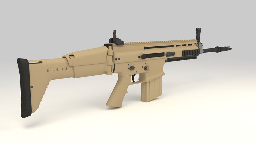 FN SCAR-H royalty-free 3d model - Preview no. 5