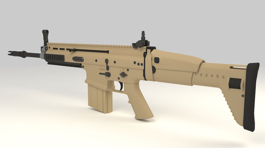 FN SCAR-H royalty-free 3d model - Preview no. 4