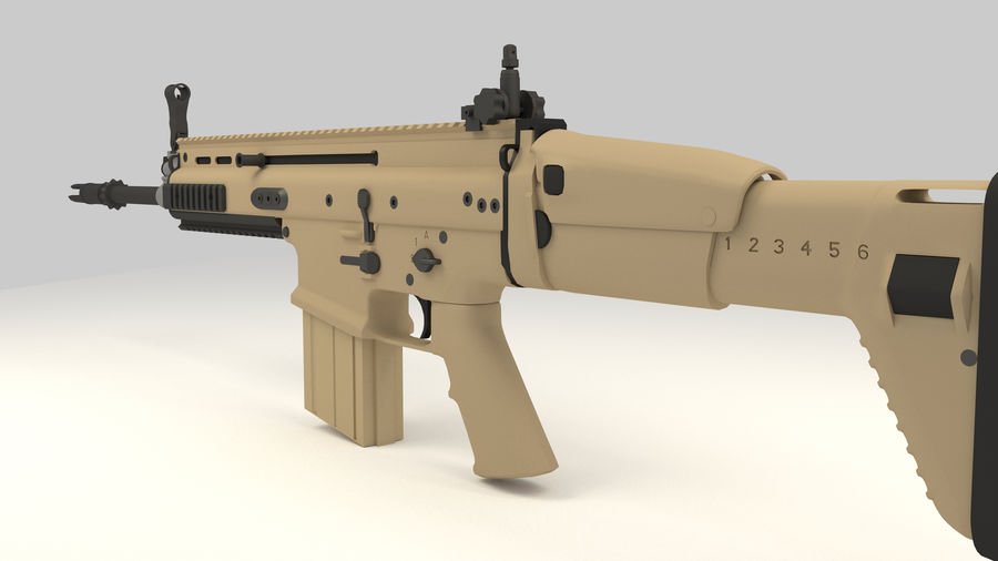 FN SCAR-H royalty-free 3d model - Preview no. 12