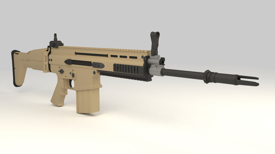 FN SCAR-H royalty-free 3d model - Preview no. 7
