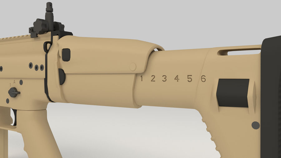 FN SCAR-H royalty-free 3d model - Preview no. 9