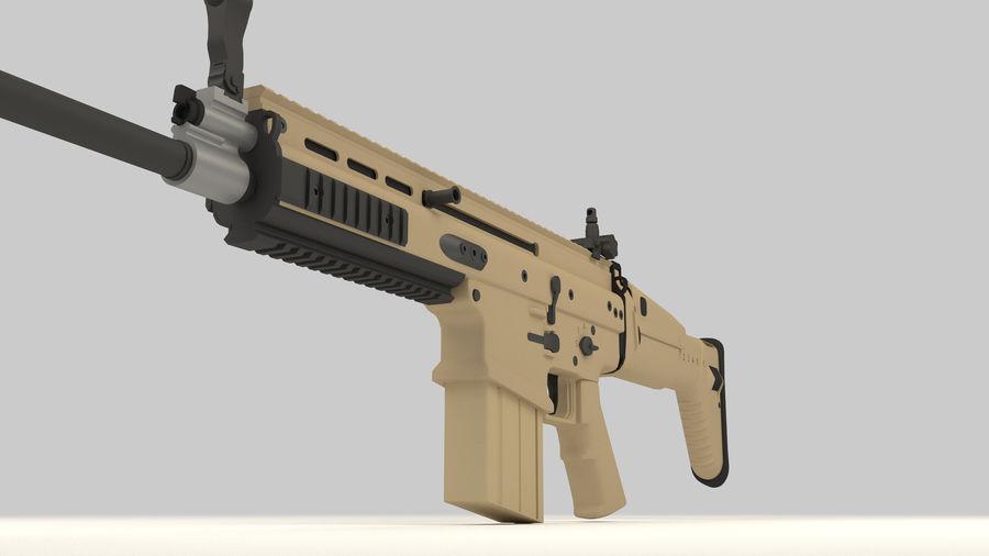FN SCAR-H royalty-free 3d model - Preview no. 11