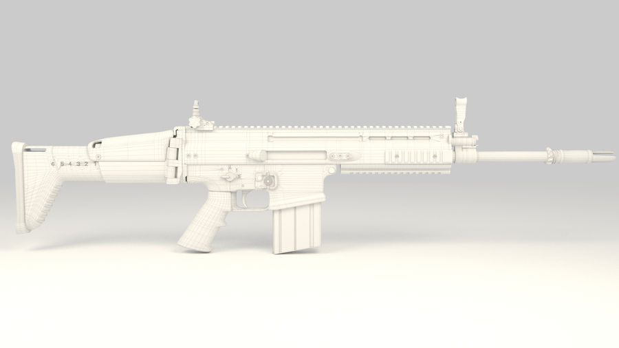 FN SCAR-H royalty-free 3d model - Preview no. 14