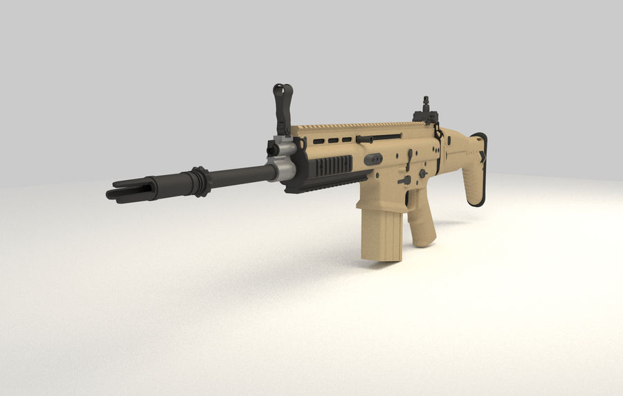 FN SCAR-H royalty-free 3d model - Preview no. 2