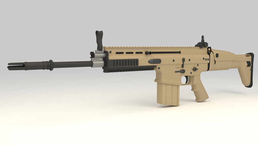 FN SCAR-H royalty-free 3d model - Preview no. 1