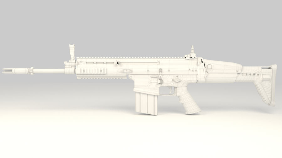 FN SCAR-H royalty-free 3d model - Preview no. 13