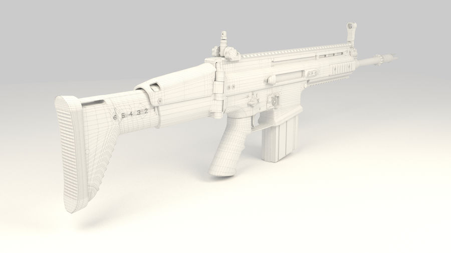 FN SCAR-H royalty-free 3d model - Preview no. 15