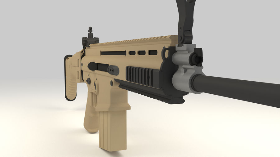 FN SCAR-H royalty-free 3d model - Preview no. 8