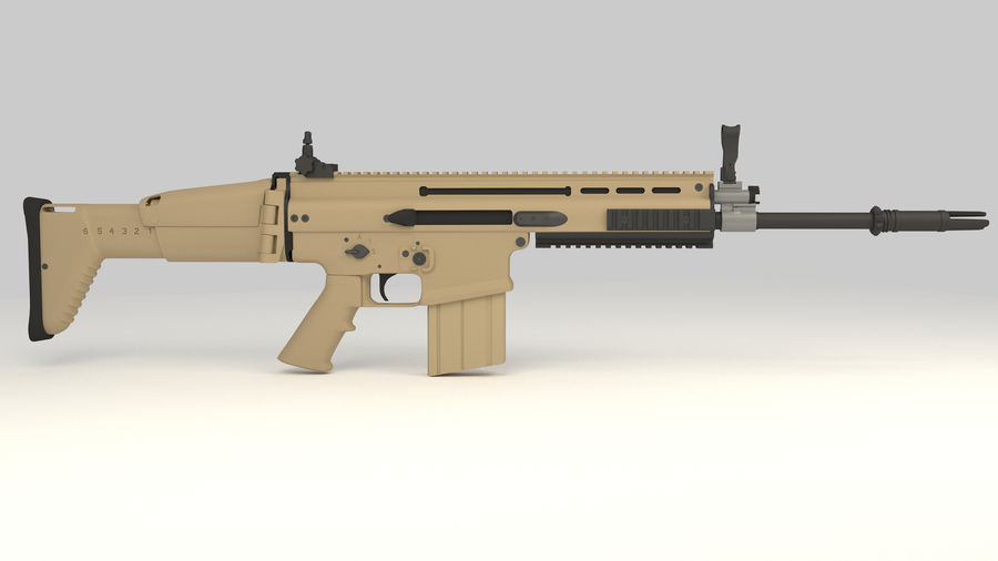 FN SCAR-H royalty-free 3d model - Preview no. 6
