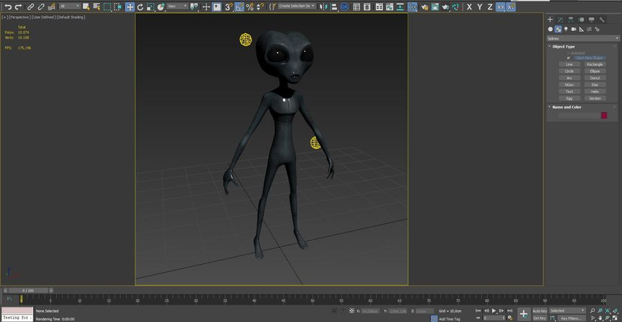 Alien character royalty-free 3d model - Preview no. 16