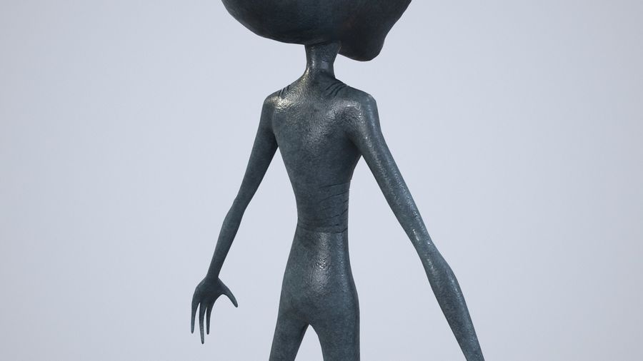Alien character royalty-free 3d model - Preview no. 12