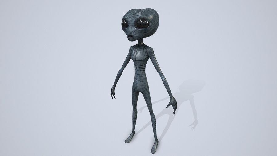 Alien character royalty-free 3d model - Preview no. 15