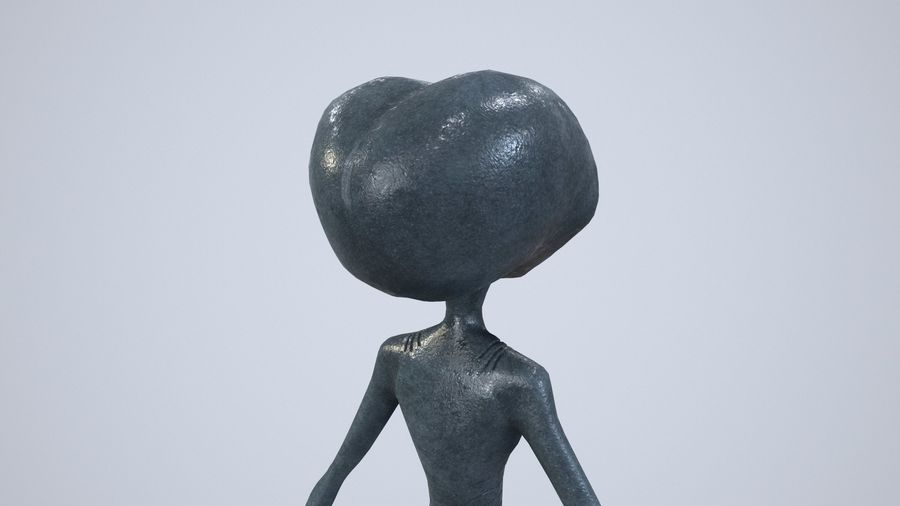 Alien character royalty-free 3d model - Preview no. 13