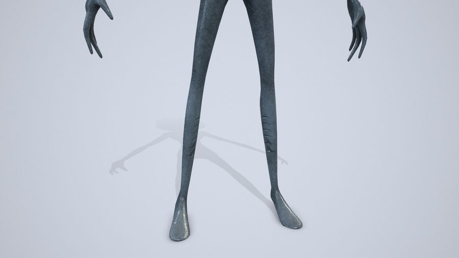 Alien character royalty-free 3d model - Preview no. 10