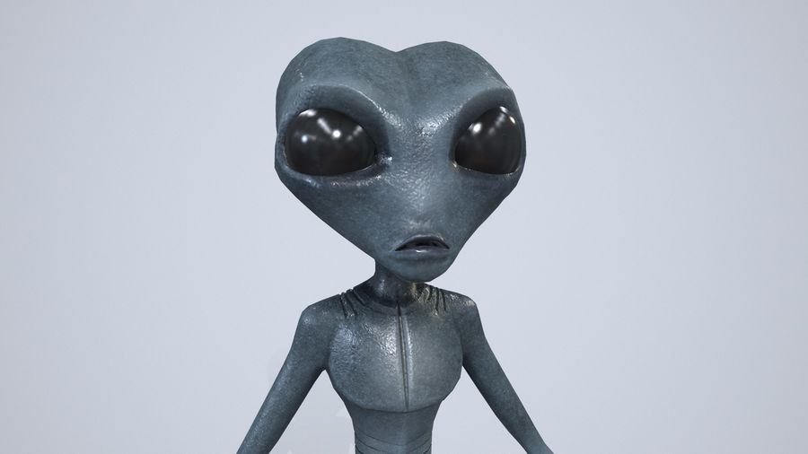 Alien character royalty-free 3d model - Preview no. 8