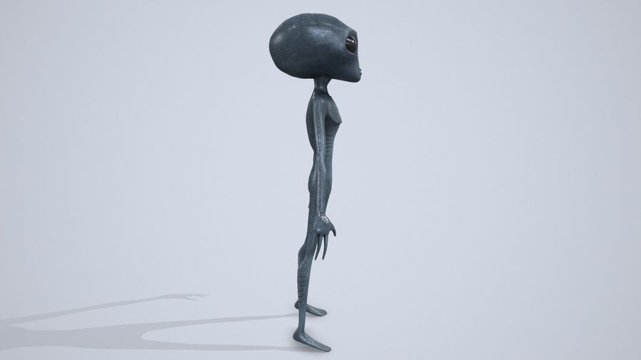 Alien character royalty-free 3d model - Preview no. 7