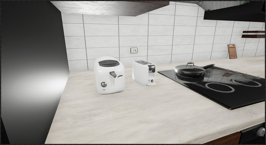 Cocina moderna royalty-free modelo 3d - Preview no. 5