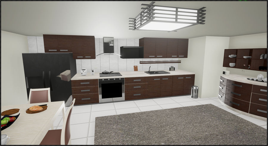 Cocina moderna royalty-free modelo 3d - Preview no. 7