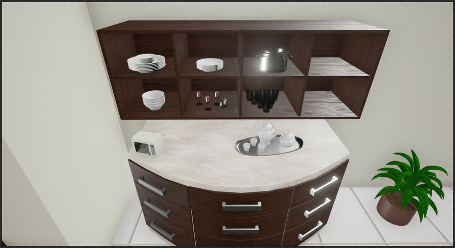 Cocina moderna royalty-free modelo 3d - Preview no. 2