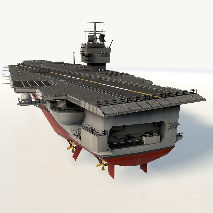 USS enterprise cvn-65 royalty-free 3d model - Preview no. 4