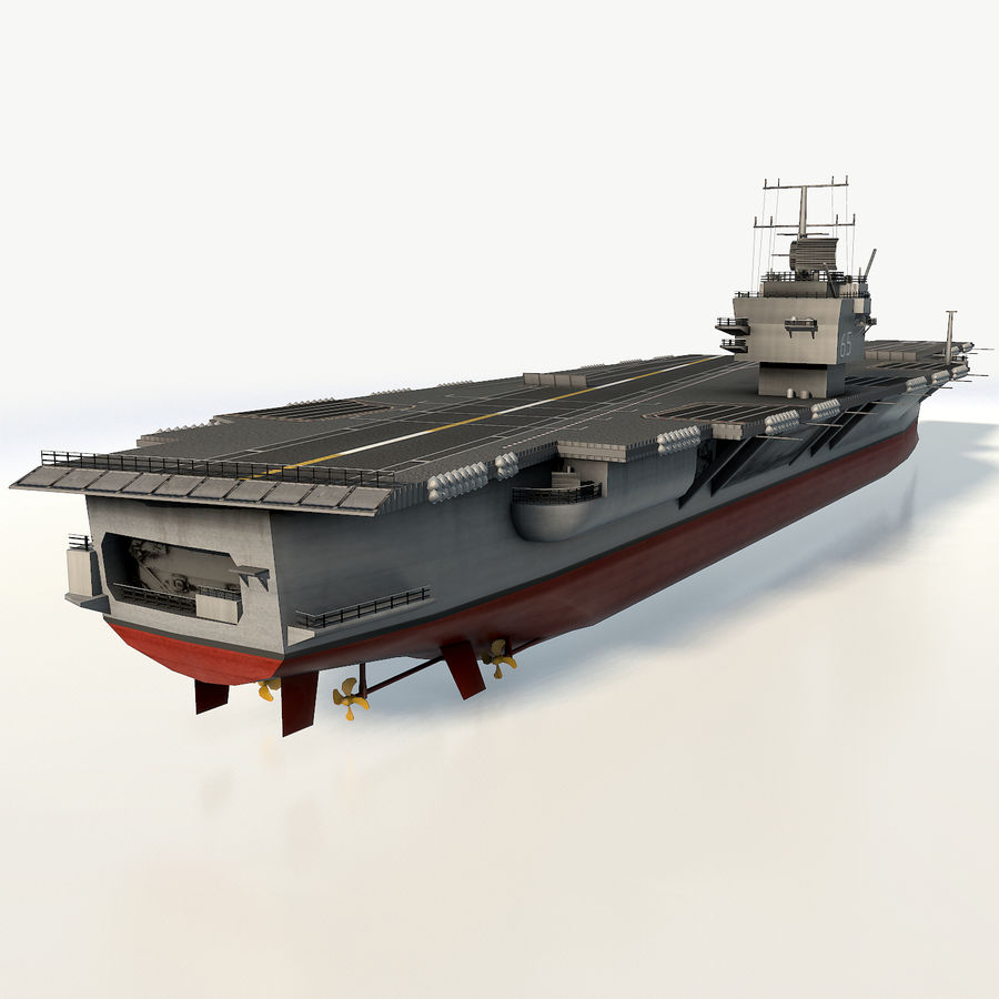 USS enterprise cvn-65 royalty-free 3d model - Preview no. 6