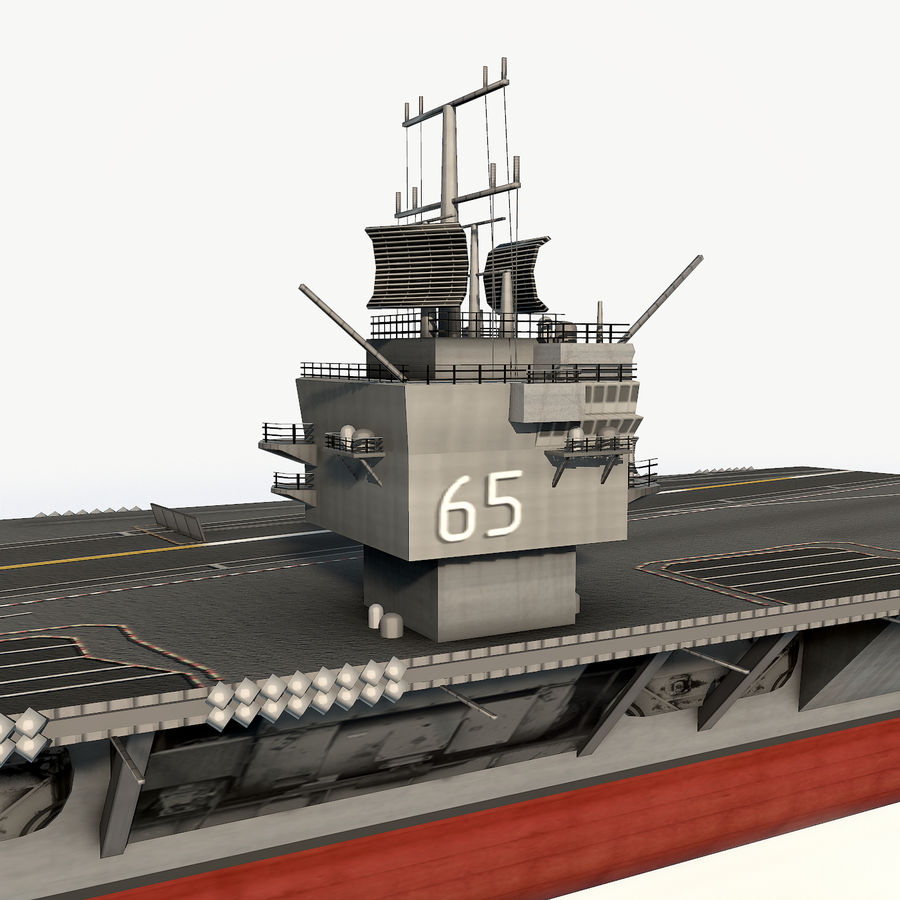 USS enterprise cvn-65 royalty-free 3d model - Preview no. 10
