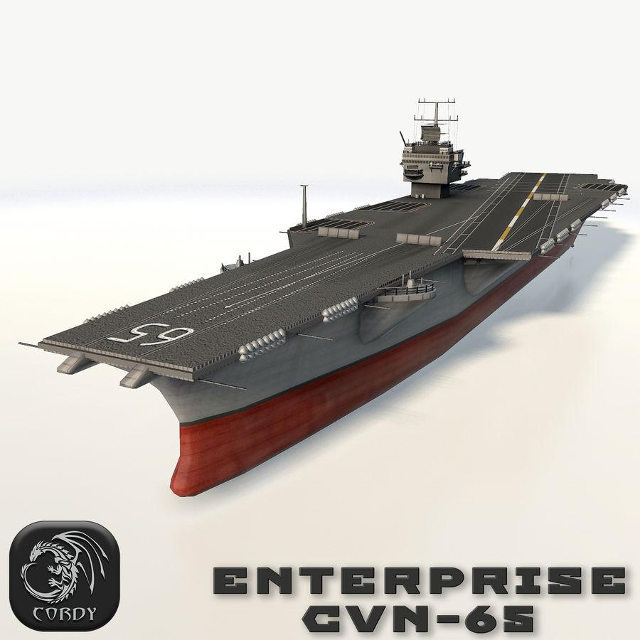 USS enterprise cvn-65 royalty-free 3d model - Preview no. 1