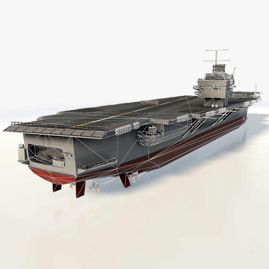 USS enterprise cvn-65 royalty-free 3d model - Preview no. 7