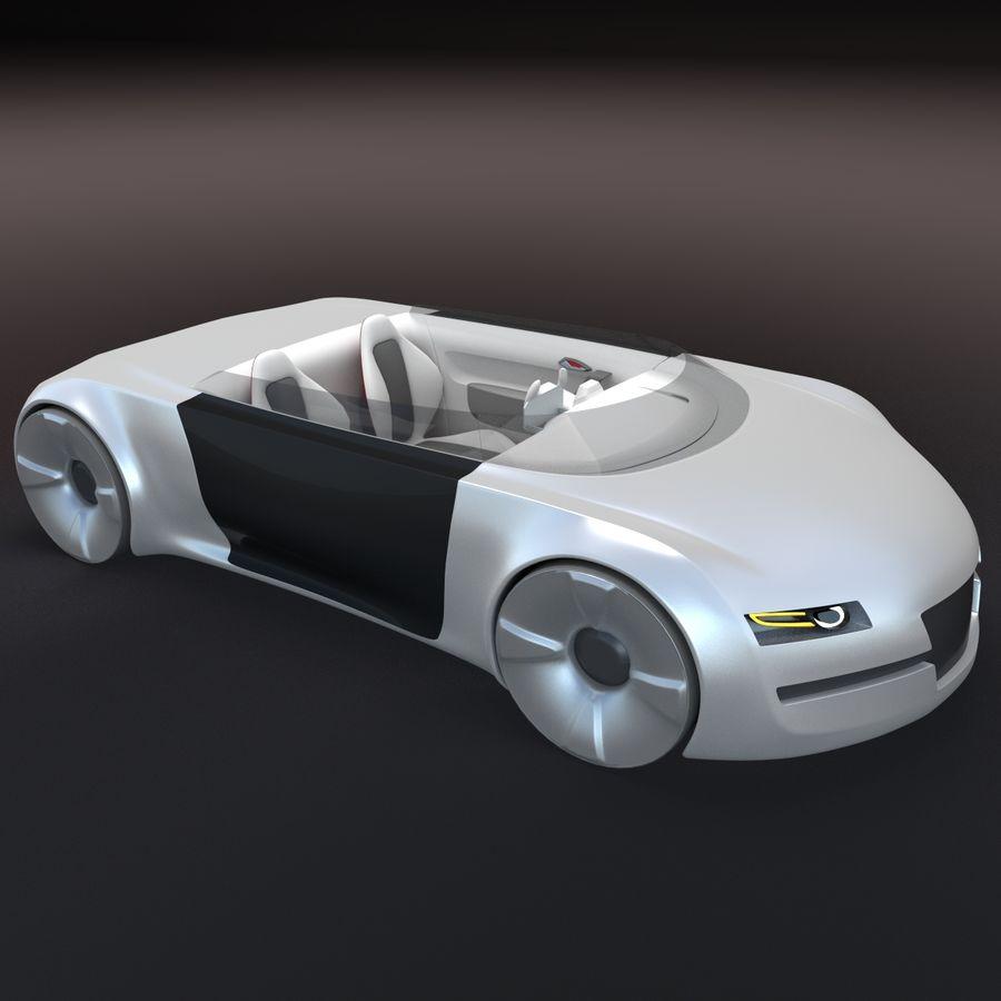 concept de sport cabrio 1 royalty-free 3d model - Preview no. 3