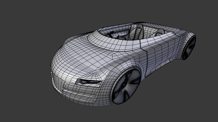 concept de sport cabrio 1 royalty-free 3d model - Preview no. 9