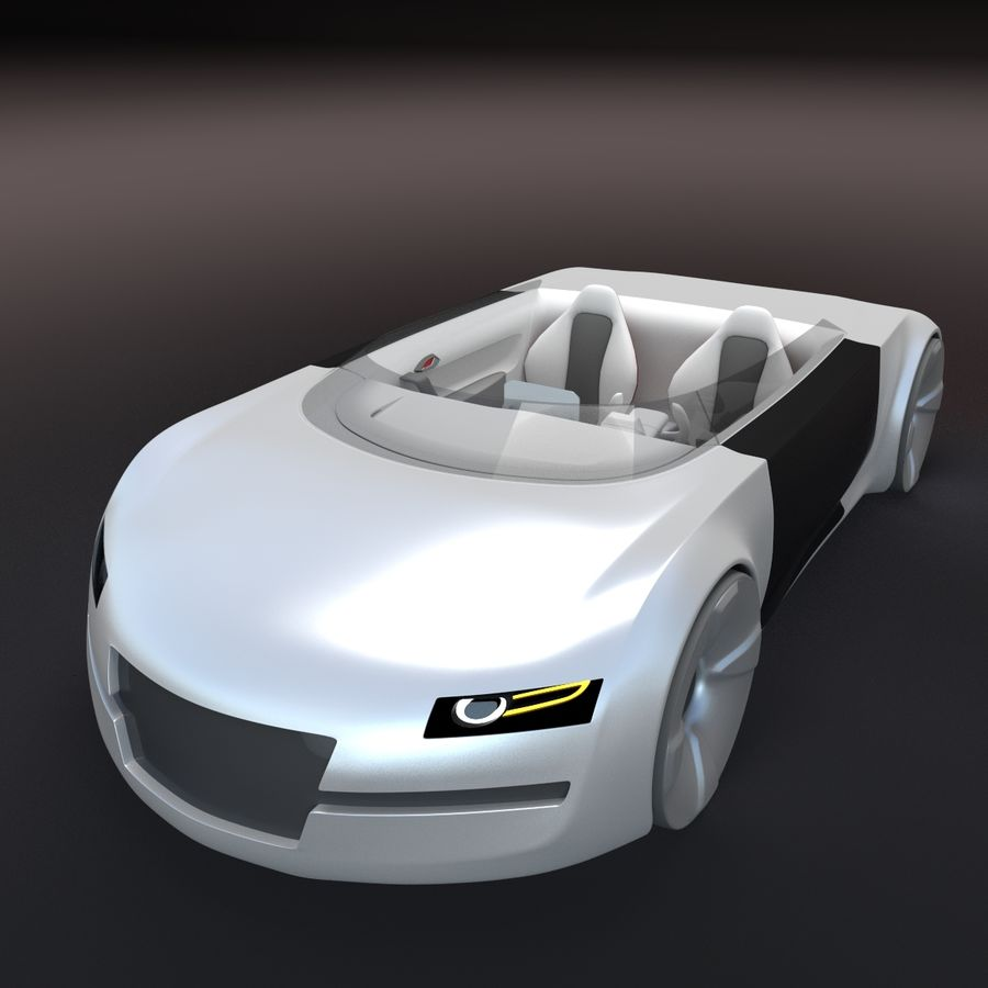 concept de sport cabrio 1 royalty-free 3d model - Preview no. 2