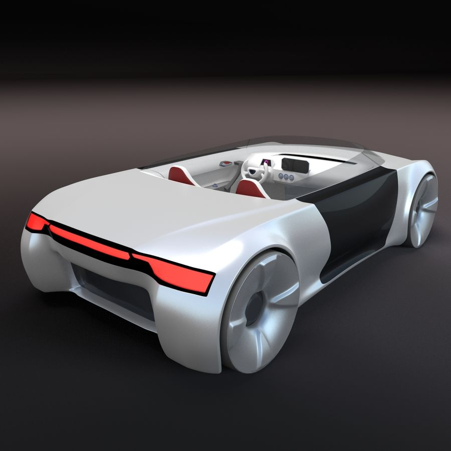 concept de sport cabrio 1 royalty-free 3d model - Preview no. 6