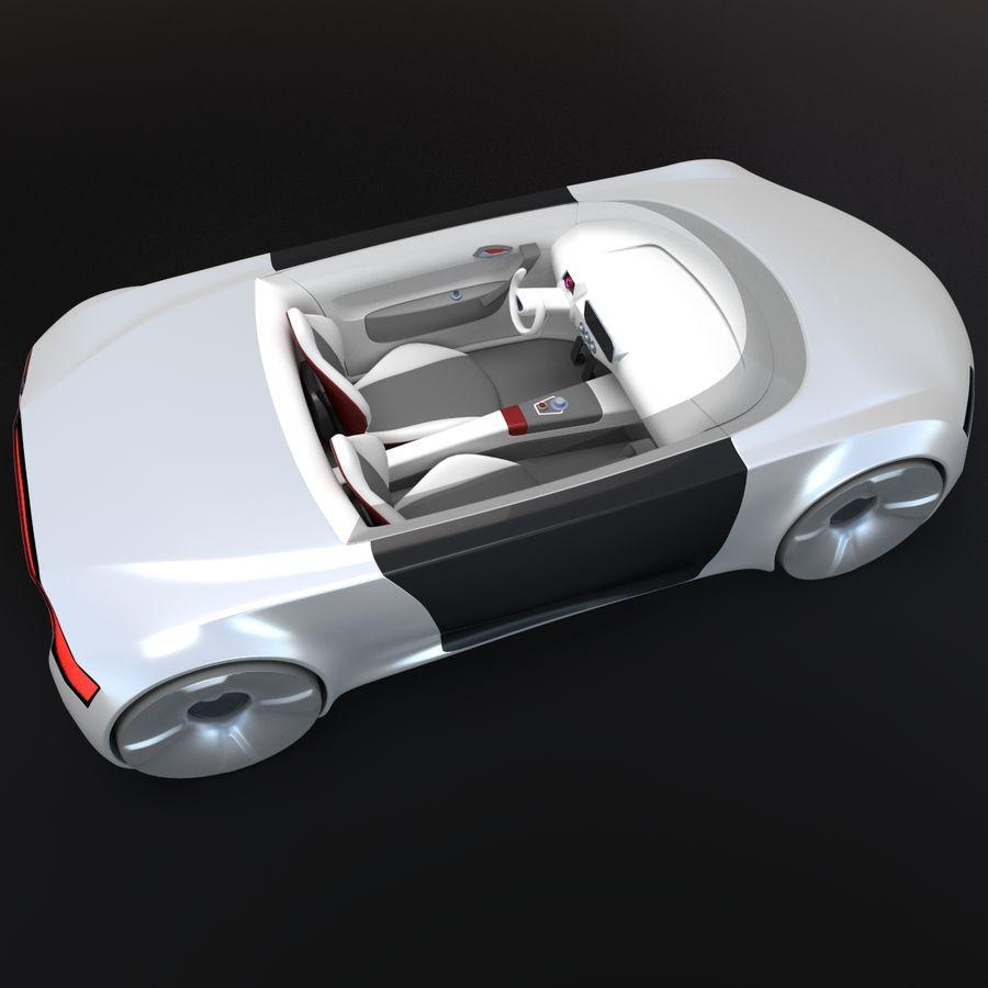 concept de sport cabrio 1 royalty-free 3d model - Preview no. 5