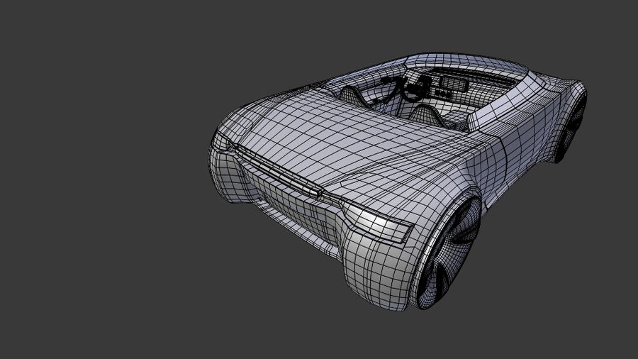 concept de sport cabrio 1 royalty-free 3d model - Preview no. 12