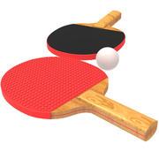 乒乓球拍 3d model