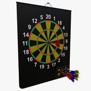 manyetik dart tahtası 3d model