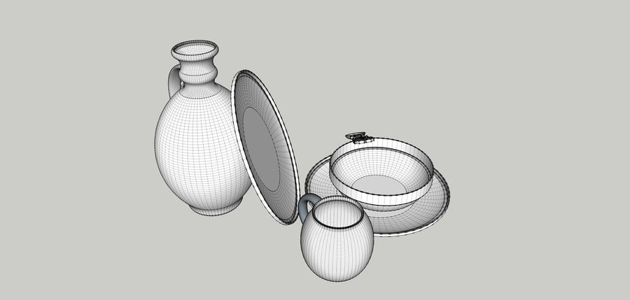 spoon & plate royalty-free 3d model - Preview no. 9