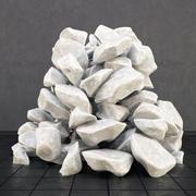 Камень белый 3d model