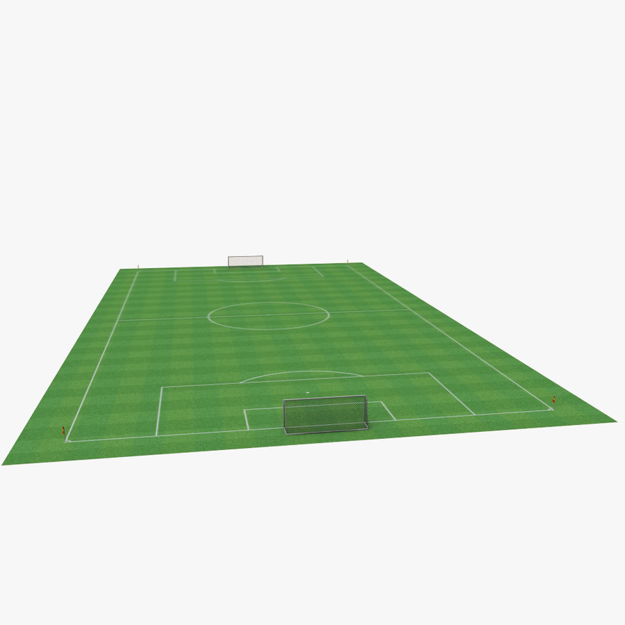 soccer field royalty-free 3d model - Preview no. 3