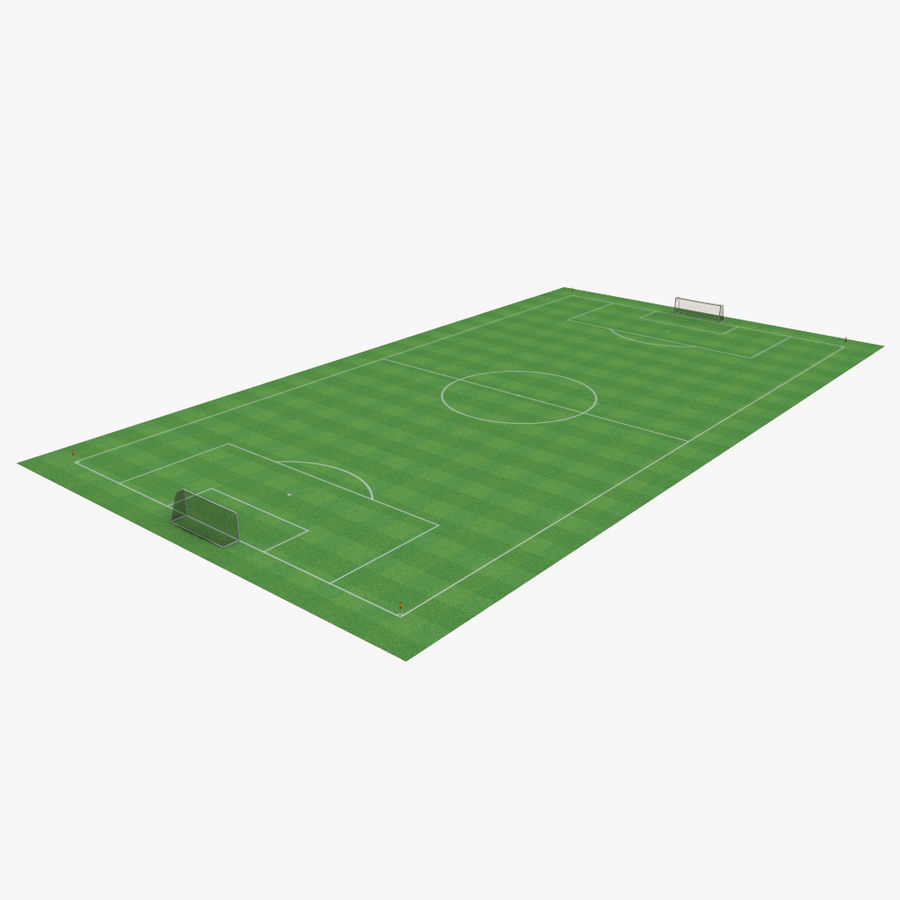 soccer field royalty-free 3d model - Preview no. 1