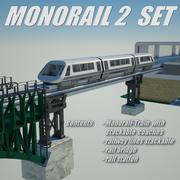 monorail 2 set 3d model