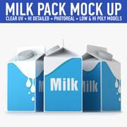 Milk Carton (2) 3d model