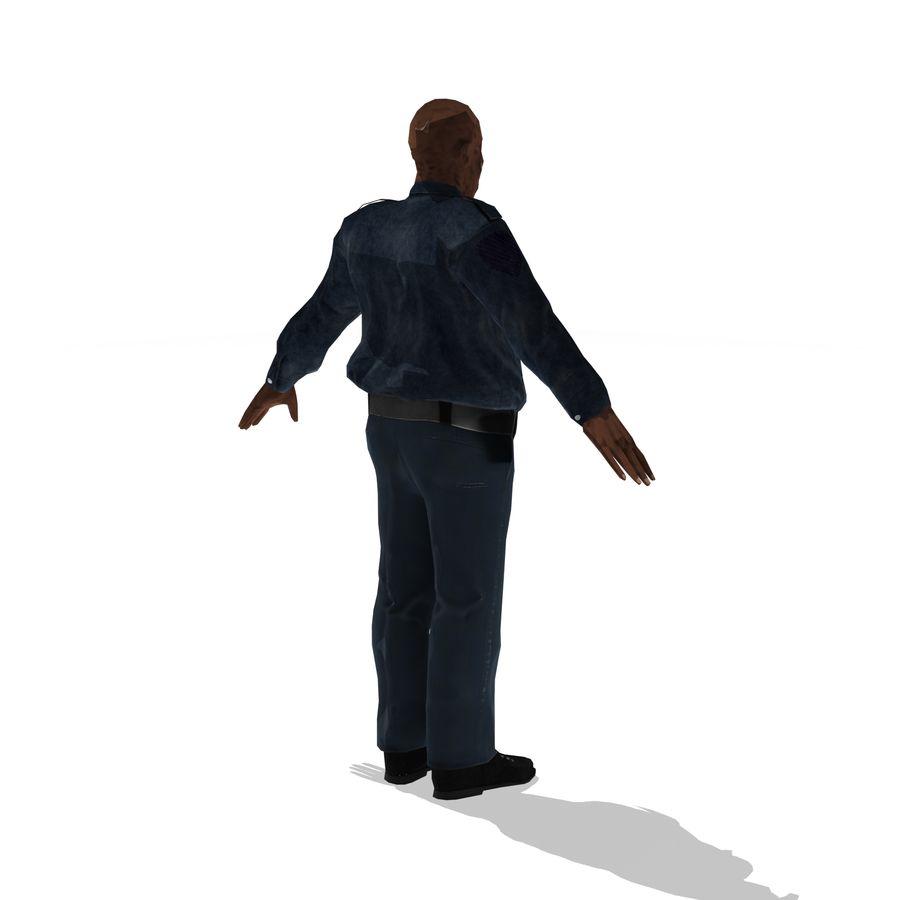 låg polis zombie royalty-free 3d model - Preview no. 4