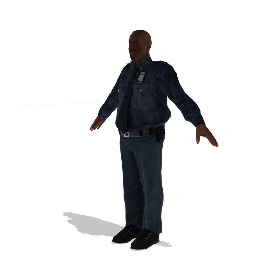 låg polis zombie royalty-free 3d model - Preview no. 1